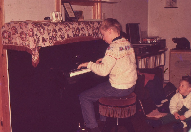 Larry at piano
